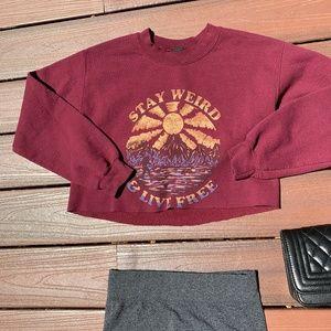 Stay Weird & Live Free Crewneck Sweatshirt
